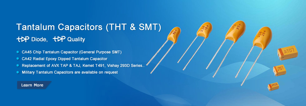10 AVX 10V 10uF Tantalum Resin Dipped Radial Capacitors